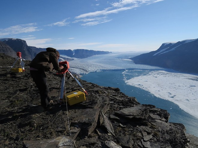 Scientists are studying the shape of glaciers in Greenland, trying to figure out how to better predict sea level rise. - TIM BARTHOLOMAUS PHOTO