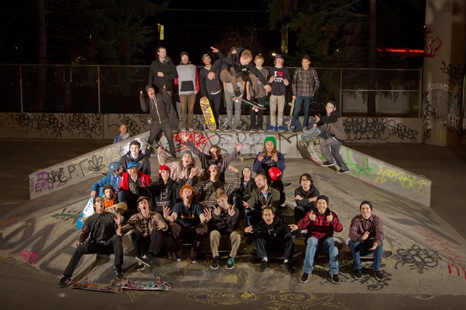 UTF skate park supporters rally in 2012. The location of a replacement park still hasn't been decided. - MIKE MILLER PHOTO