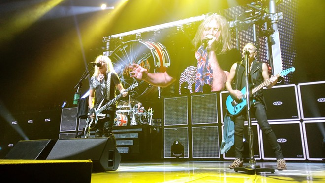 Def Leppard's show at Spokane Arena on Wednesday night was maybe a little too similar to their visit in 2015. - DAN NAILEN PHOTO