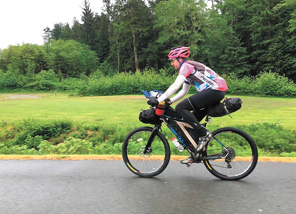 Want to push yourself? OK, try the Cross-Washington Mountain Bike Route.