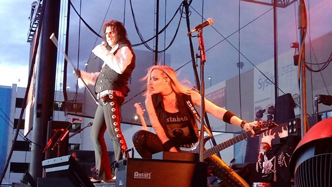 Nita Strauss was one of three guitarists bringing Alice Cooper's nightmare to life on stage. - DAN NAILEN