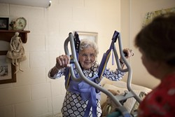 Alice Jacobs, a 90-year-old from Virginia, relies on Medicaid for health insurance. - KHUE BUI/THE NEW YORK TIMES