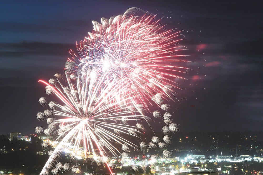Fireworks over Riverfront Park. |YOUNG KWAK photo