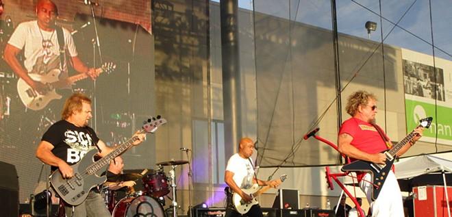 (From left) Michael Anthony, Jason Bonham, Vic Johnson and Sammy Hagar make up The Circle. - DAN NAILEN