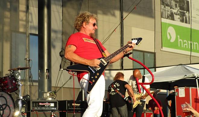 Sammy Hagar played some guitar between shots of booze. - DAN NAILEN