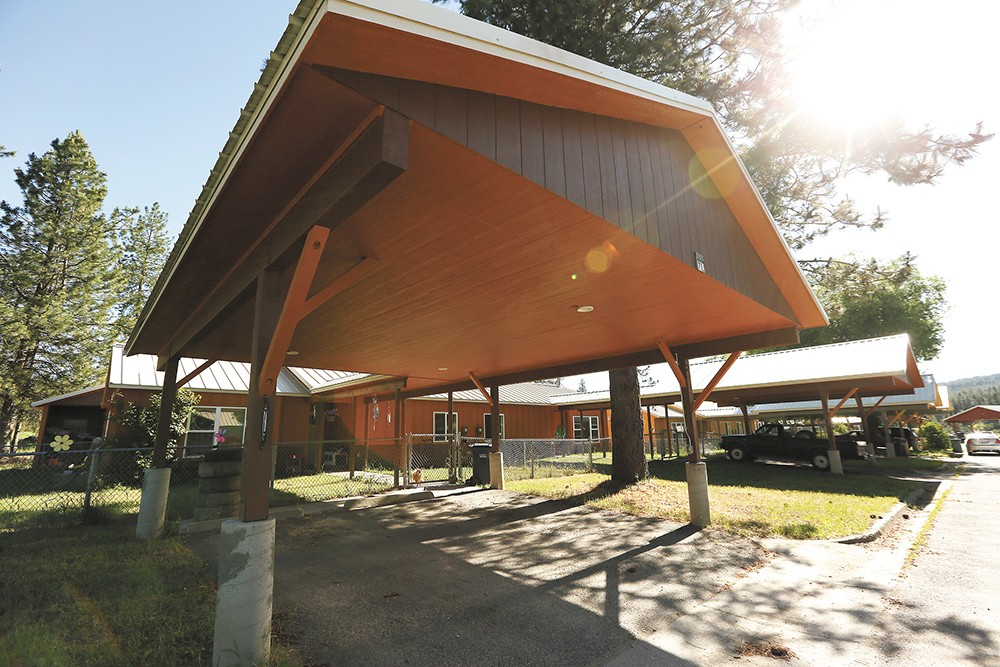 A $1 million grant will help the tribe install solar panels to power elder housing, shown here. - YOUNG KWAK