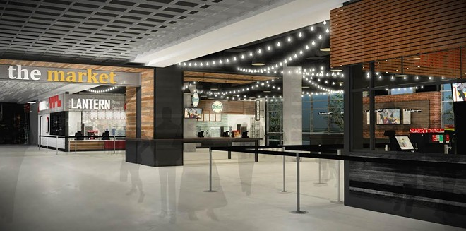 An architectural rending of the new market-style concessions area coming to the Spokane Arena later this year.