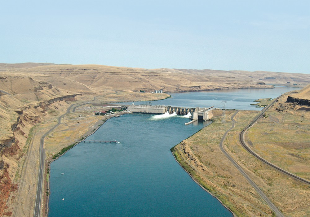 The Lower Monumental Dam on the Snake River, near Kahlotus, Washington. - COLUMBIA BASIN FEDERAL CAUCUS PHOTO
