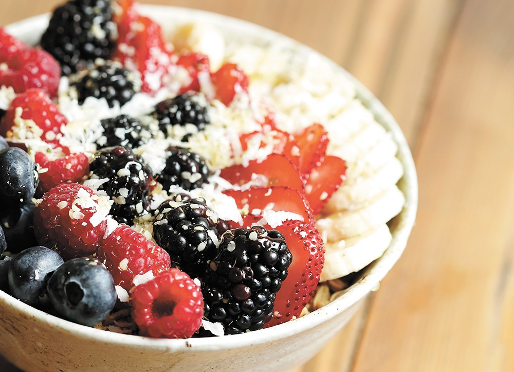 "Wellness Bar's ""bomb.com"" açaí bowl. - YOUNG KWAK"