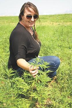 """Jackie Richter, the tribes' """"chief of hemp."""" - SAMANTHA WOHLFEIL"""