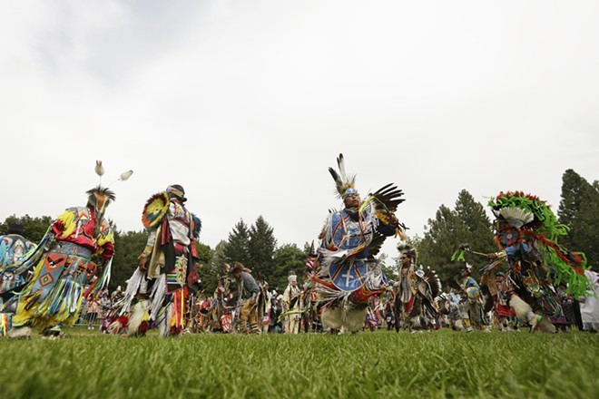 The Gathering at the Falls Powwow begins Friday.
