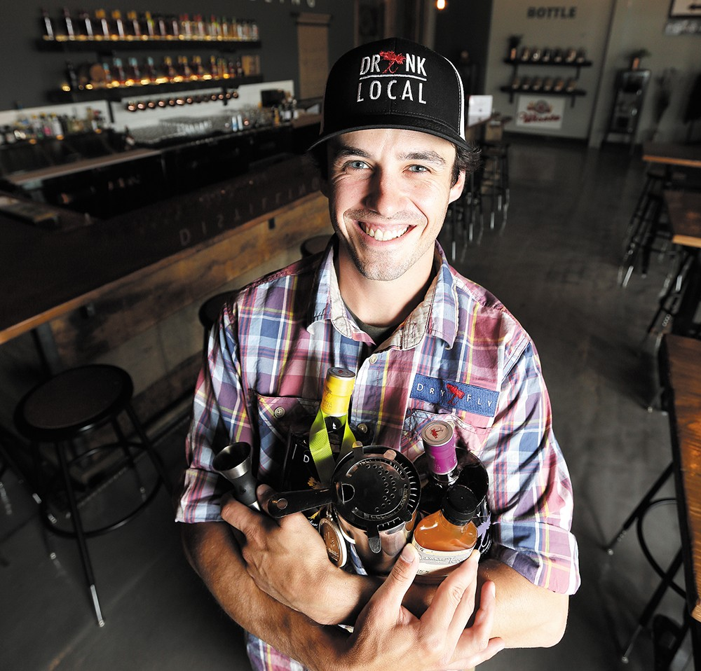 Mikel Lenox is the regular instructor at Dry Fly's Cocktail College. - YOUNG KWAK