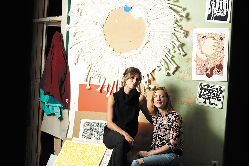 Co-founders of the Richmond Art Collective, Anne-Claire Mitchell (left) and Rebecca Chadwell. - YOUNG KWAK