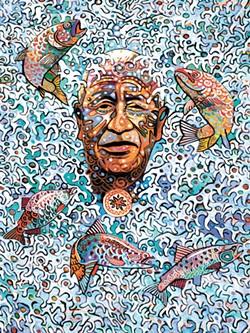 Alfredo Arreguín's work delivers incredibly vivid colors.