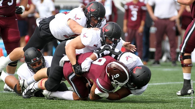 EWU's defense made life miserable for Fordham all day Saturday. - EWU ATHLETICS