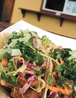 "Devil's Lettuce's fresh ""Mamma Thai Tacos."" - CARRIE SCOZZARO"