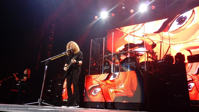 Megadeth on stage Friday at Spokane Arena. - DAN NAILEN