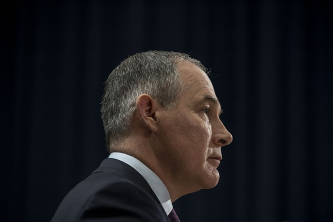 "Scott Pruitt, head of the Environmental Protection Agency: ""The war on coal is over."" - GABRIELLA DEMCZUK/THE NEW YORK TIMES"