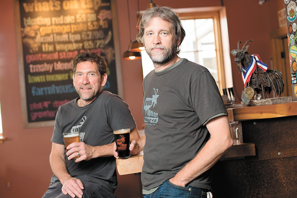 The loss of Iron Goat co-founder Paul Edminster (right) is being felt through the region. - YOUNG KWAK