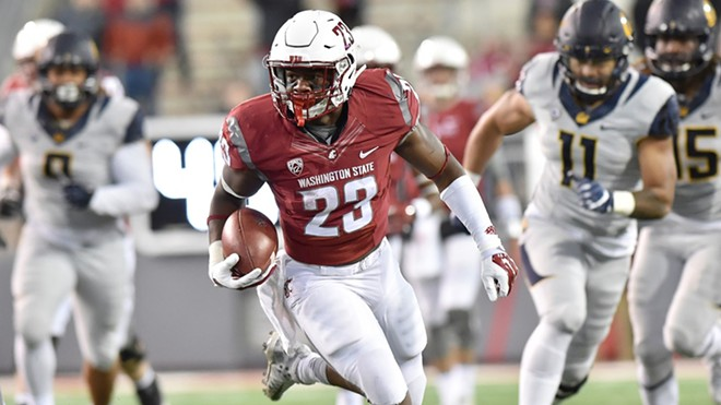 Last November, Gerard Wicks rambled for 128 yards against Cal, averaging more than 14 per carry, in WSU's 56-21 win. - WSU ATHLETICS