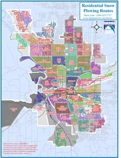The city's new snowplow map. - CITY OF SPOKANE
