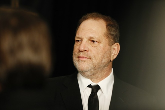 Harvey Weinstein, the Hollywood producer, at a Golden Globes afterparty in Los Angeles, Jan. 10, 2016. - EMILY BERL/THE NEW YORK TIMES