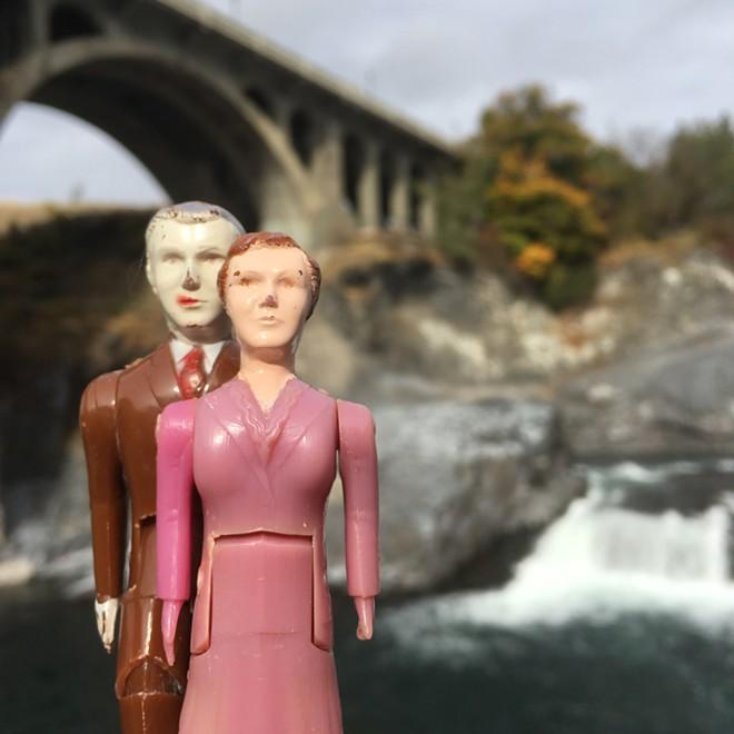 Below the Monroe Street Bridge, in Huntington Park - JONATHAN HOLLINGSWORTH