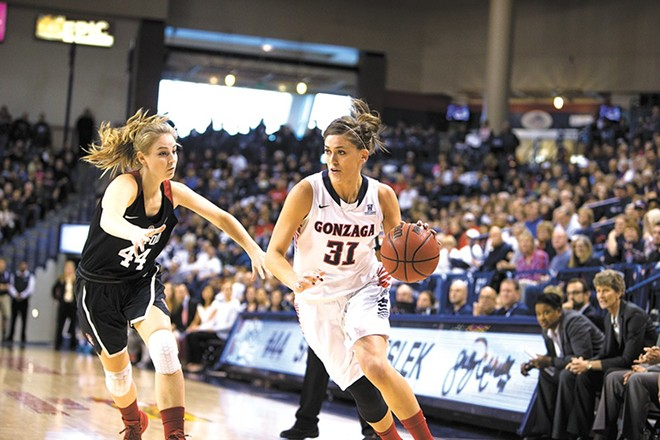 If the ball bounces the right way, the Gonzaga women could find themselves playing at the Spokane Arena in March.