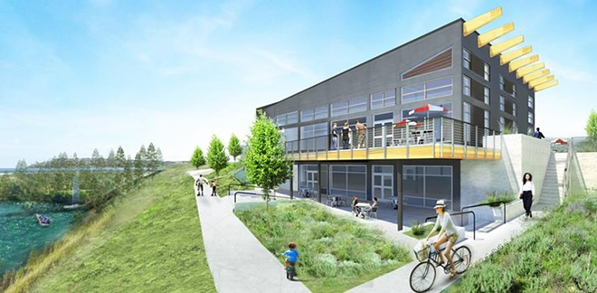 A rendering of the forthcoming Maryhill Winery tasting room, opening in Kendall Yards later this year. - MARYHILL WINERY