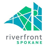 Riverfront Park's snazzy new logo.