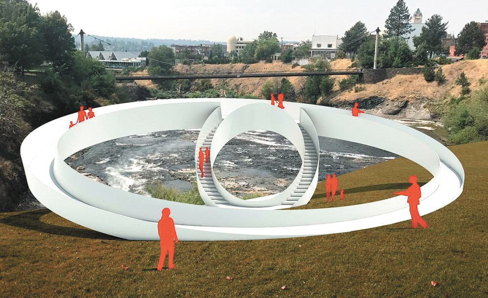 Preliminary art designs for Riverfront Park by lead artist Meejin Yoon.