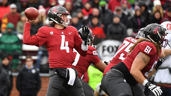 Luke Falk threw for 337 yards, rallying Washington State past Stanford 24-21 and giving Falk the Pac-12's all-time record for passing yardage. He now has 13,801 yards with the possibility of playing in four more games. - WSU ATHLETICS