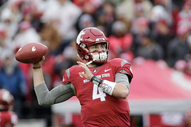 Luke Falk set the Pac-12 career record for touchdown passes; he currently has 118 TDs in his four years as a Coug. - WSU ATHLETICS