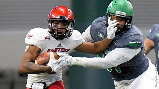 The Eagles pushed their way past North Dakota 21-14, keeping their dim playoff hopes alive. - EWU ATHLETICS