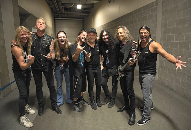 Spokane Metallica tribute band Blistered Earth got to meet the real deal this summer in Seattle. - BLISTERED EARTH