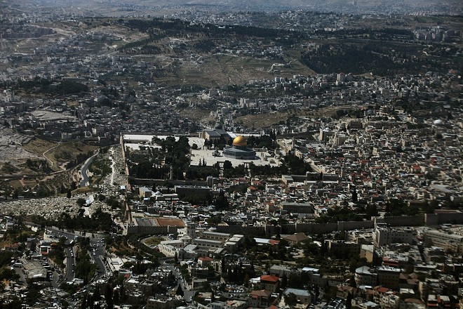 An aerial view of the Old City of Jerusalem, with the Al-Aqsa Mosque at the center, on Jan. 24, 2010. President Donald Trump told Israeli and Arab leaders on Tuesday, Dec. 5, 2017, that he plans to recognize Jerusalem as the capital of Israel, a symbolically fraught move that would upend decades of American policy and upset efforts to broker peace between Israel and the Palestinians. - RINA CASTELNUOVO/THE NEW YORK TIMES