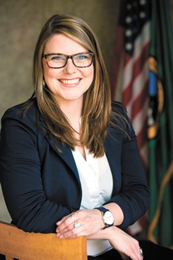 Kate Burke, running to represent northeast Spokane on the city council, handily beat her opponent in November and will be sworn into office next week.