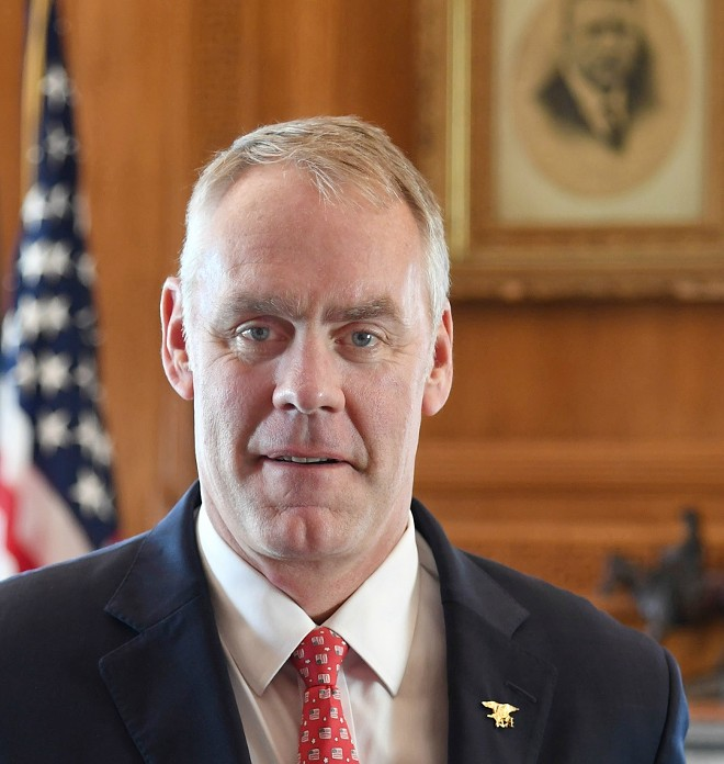 Interior Secretary Ryan Zinke - TAMI HEILEMANN/US DEPT. OF INTERIOR