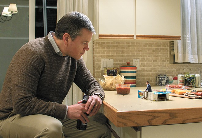 The not-so-incredible shrinking man: Matt Damon is an everyday guy who contemplates living just inches off the ground in Alexander Payne's Downsizing.