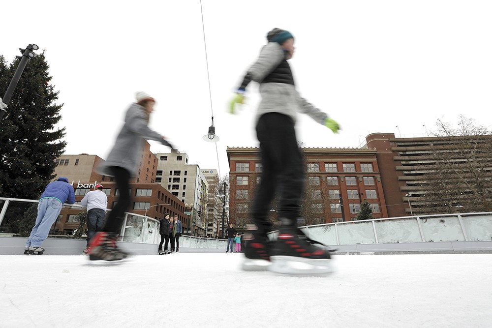 Open for less than a month, Riverfront Park's ice ribbon is already paying dividends. - YOUNG KWAK