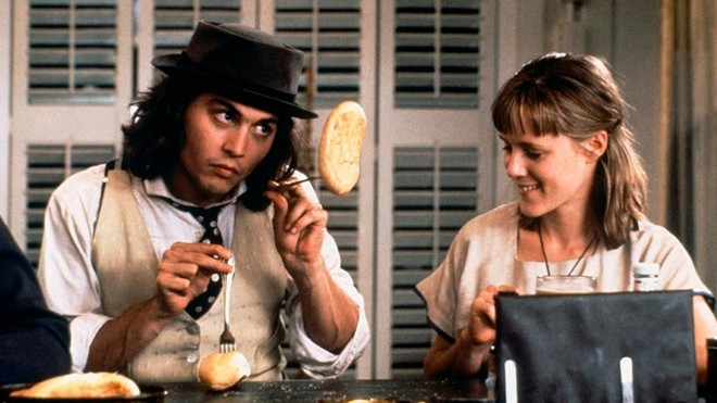 Johnny Depp and Mary Stuart Masterson in 1993's Benny & Joon, SpIFF's opening night film.