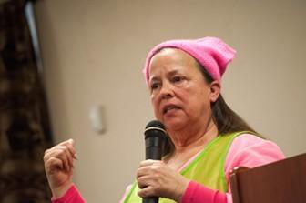 Democratic activist Cynthia Hamilton - DANIEL WALTERS PHOTO