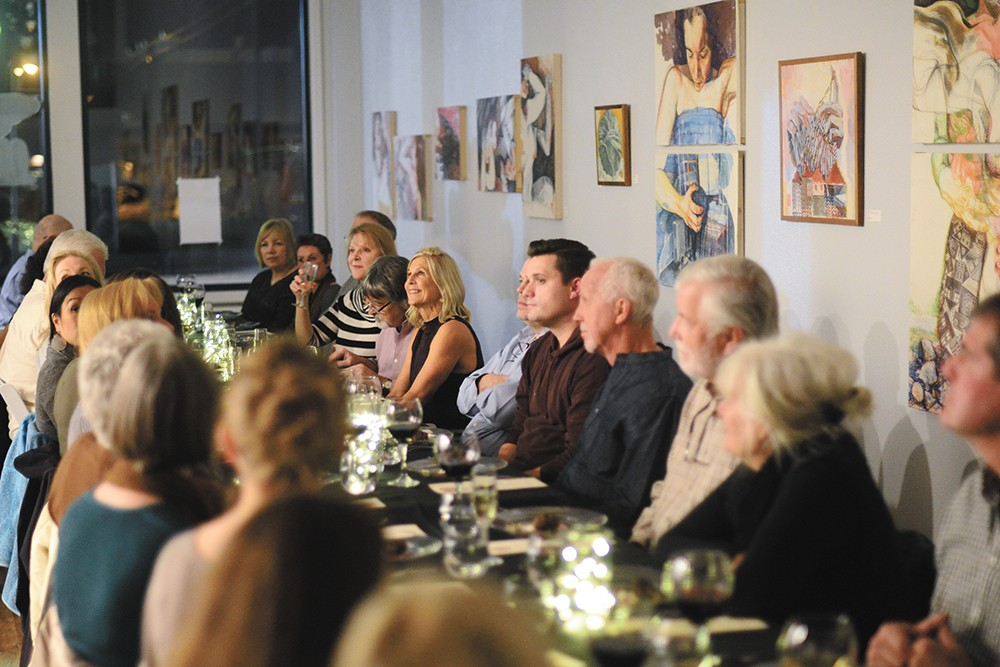 Guests of the series' first dinner enjoyed a squash-themed menu by Chef Adam Hegsted. - BRADLEY MARKS