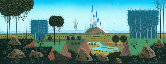 Concept art for Disney's Sleeping Beauty by artist Eyvind Earle, the inspiration for Brown's new restaurant project.