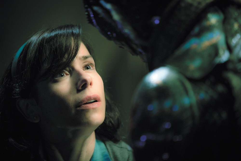Oscar nominee Sally Hawkins plays a woman whose love has gills in The Shape of Water, a twisted fable from the director of Pan's Labyrinth.