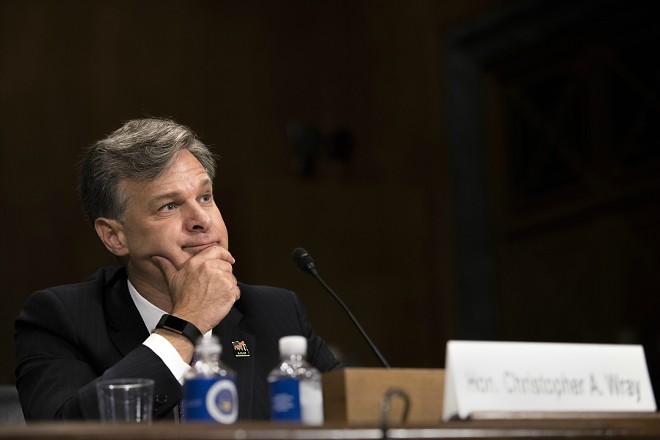 Christopher Wray, President Donald Trump's FBI director - TOM BRENNER/THE NEW YORK TIMES