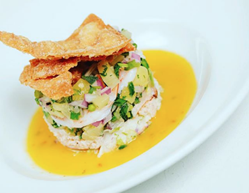 Twigs Bistro & Martini Bar is serving up this shrimp-crab pineapple tower on its 2018 Restaurant Week menu. - YOUNG KWAK