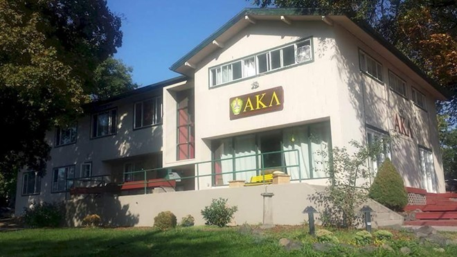 WSU's Alpha Kappa Lambda fraternity, which has been shut down. - FACEBOOK