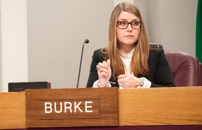 Councilwoman Kate Burke was concerned about Phil Tyler's history before she ran for office. - DANIEL WALTERS PHOTO