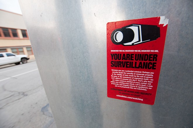 Another CrimethInc poster condemns the surveillance state - DANIEL WALTERS PHOTO